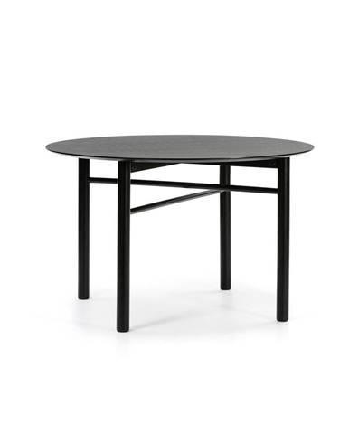 Čierny okrúhly jedálenský stôl Teulat Junco, ø 120 cm