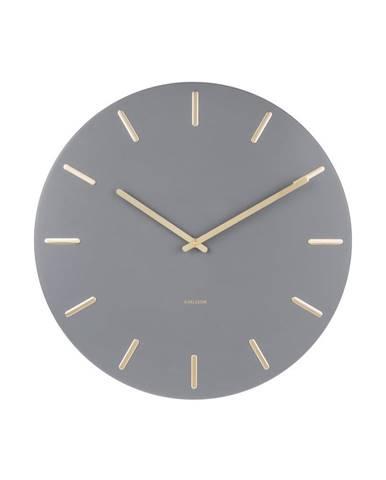 Sivé nástenné hodiny Karlsson Charm