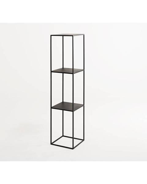 Custom Form Čierna kovová knižnica Custom Form Tensio, výška 140 cm