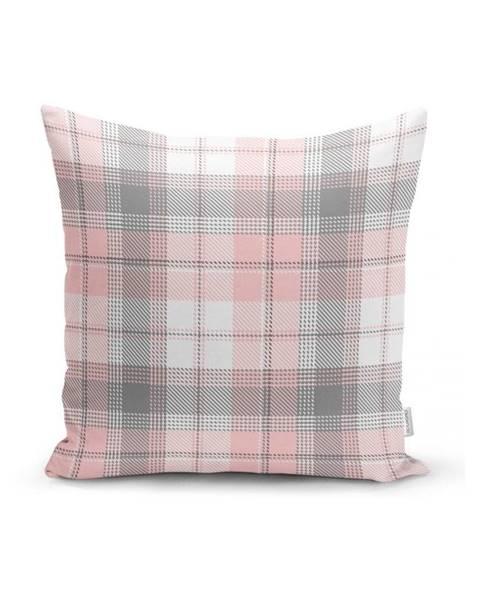 Minimalist Cushion Covers Sivo-ružová dekoratívna obliečka na vankúš Minimalist Cushion Covers Flannel, 35 x 55 cm