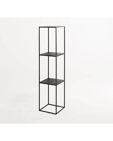 Čierna kovová knižnica Custom Form Tensio, výška 140 cm