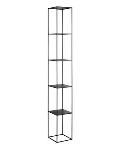 Čierna kovová knižnica Custom Form Tensio, výška 230 cm
