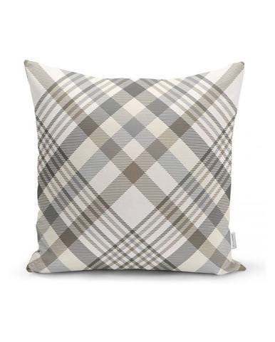 Sivo-béžová dekoratívna obliečka na vankúš Minimalist Cushion Covers Flannel, 35 x 55 cm