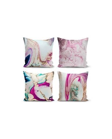 Súprava 4 dekoratívnych obliečok na vankúše Minimalist Cushion Covers Watercolor, 45 x 45 cm