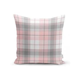 Sivo-ružová dekoratívna obliečka na vankúš Minimalist Cushion Covers Flannel, 35 x 55 cm