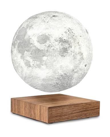 Stolová levitujúca lampa v tvare mesiaca Gingko Moon Walnut