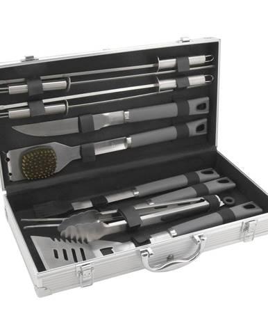 Súprava 11 kusov grilovacieho náradia v kufríku Cattara Alu Grey Line