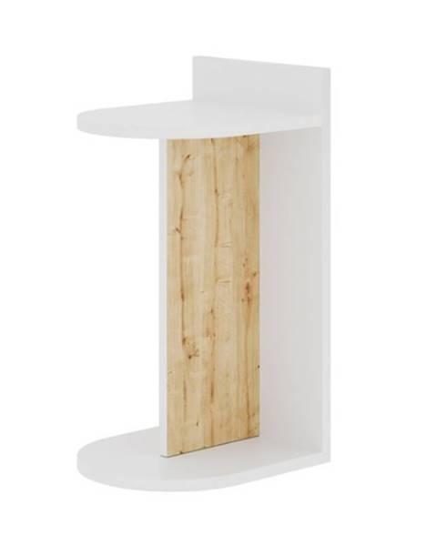 Sconto Prístavný stolík DOM biela/dub