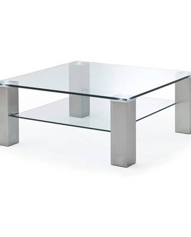 Konferenčný stolík AIDAN oceľ/sklo