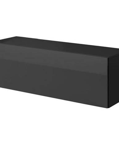 TV komoda VIVO VI 2 120 cm, čierna