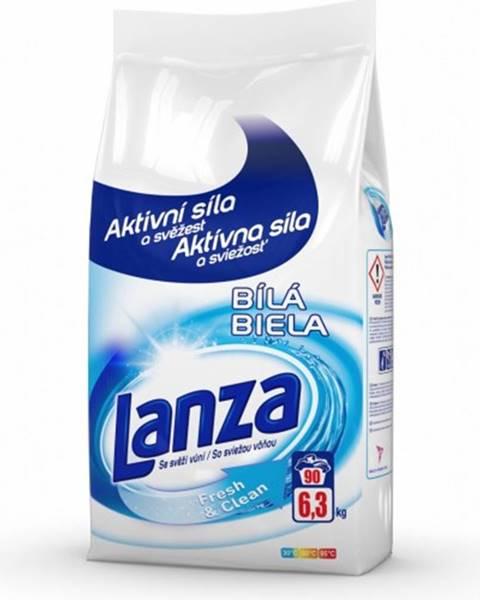 Lanza Prací prášok Lanza A000010388, Fresh & Clean, biele, 6,3kg