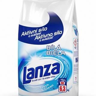 Prací prášok Lanza A000010388, Fresh & Clean, biele, 6,3kg