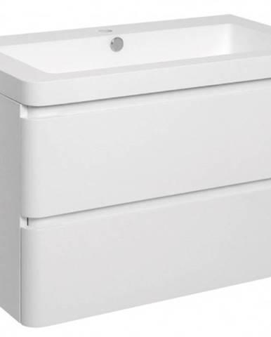Kúpeľňová skrinka s umývadlom Praya závesná 105x53x48,biela,lesk