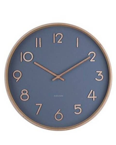 Karlsson Karlsson 5757BL dizajnové nástenné hodiny, pr. 40 cm