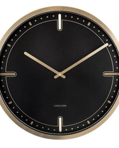 Karlsson 5727BK dizajnové nástenné hodiny, pr. 42 cm