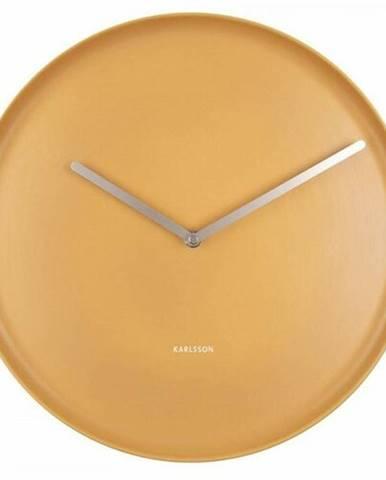 Karlsson 5786YE dizajnové nástenné hodiny, pr. 35 cm