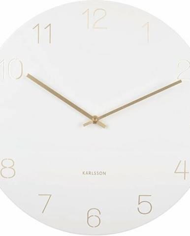 Karlsson 5762WH dizajnové nástenné hodiny, pr. 40 cm