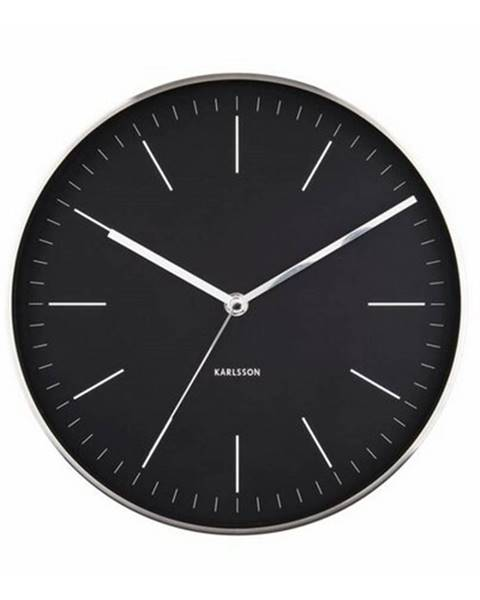 Karlsson Karlsson 5732BK dizajnové nástenné hodiny, pr. 28 cm