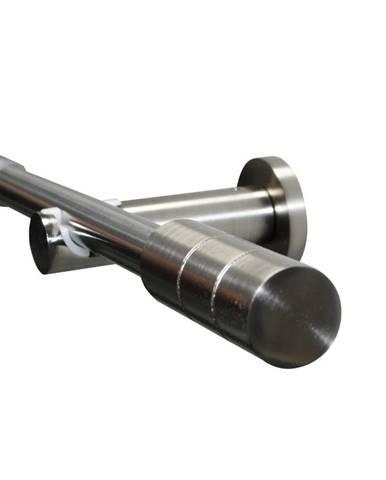 Gardinia Súprava záclonová roztiahnuteľná KRETA 19/16 mm, 190 - 340 cm ušľachtilá oceľ , 190 - 340 cm