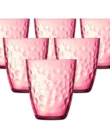 Luminarc Sada pohárov CONCEPTO PEPITE 310 ml, 6 ks, ružová