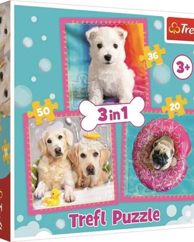 TREFL Puzzle Štěňátka 3v1 (20,36,50 dílků)