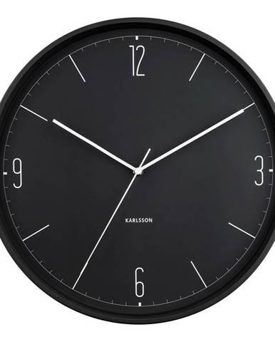 Karlsson 5735BK dizajnové nástenné hodiny, pr. 40 cm