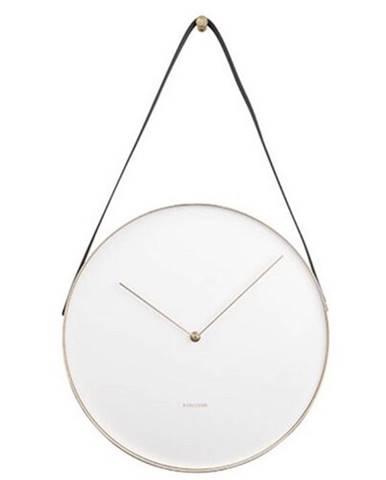 Karlssson 5767WH dizajnové nástenné hodiny, pr. 34 cm