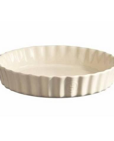Emile Henry Forma na koláč hlboká 28 cm, biela