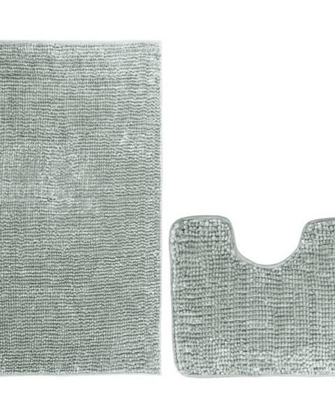 Guzzanti AmeliaHome Sada kúpeľňových predložiek Bati sivá, 2 ks 50 x 80 cm, 40 x 50 cm