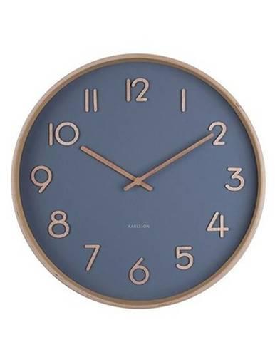 Karlsson 5757BL dizajnové nástenné hodiny, pr. 40 cm