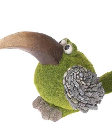 Záhradná dekorácia Machový vtáčik, 40 x 25,5 x 20,5 cm