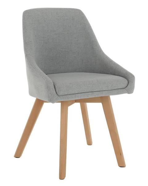 Kondela Jedálenská stolička sivá látka/buk TEZA
