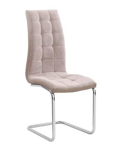 Jedálenská stolička béžová/chróm SALOMA NEW