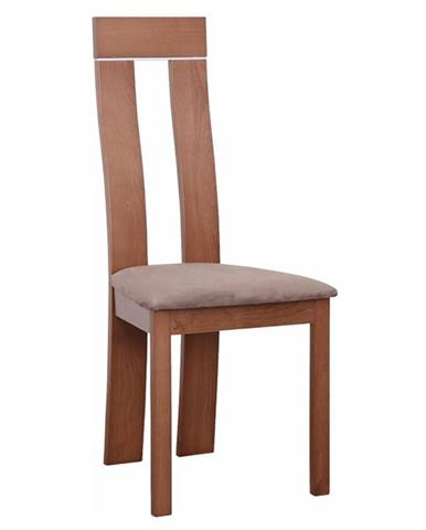 Drevená stolička čerešňa/látka hnedá DESI rozbalený tovar