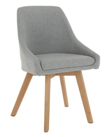 Jedálenská stolička sivá látka/buk TEZA. rozbalený tovar