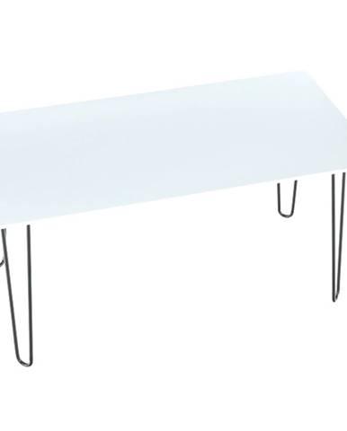 Jedálenský stôl biela/kov KURT rozbalený tovar