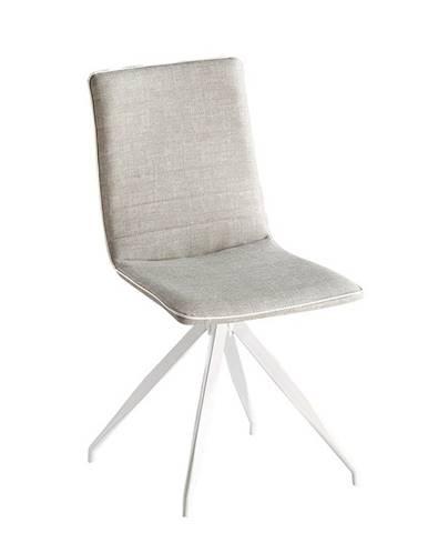 Stolička svetlosivá/biela BAHIRA rozbalený tovar
