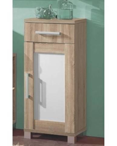 Kúpeľňová bočná skrinka Poseidon, dub Sonoma%
