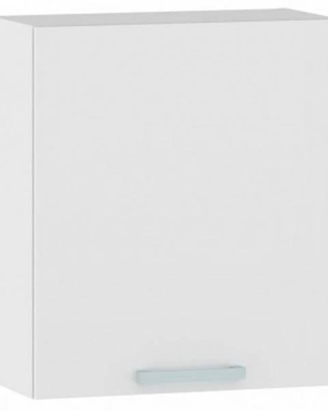 ASKO - NÁBYTOK Horná kuchynská skrinka One EH60, ľavá, biely lesk, šírka 60 cm%