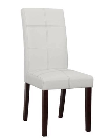 Jedálenská stolička biela/tmavý orech RORY 2 NEW poškodený tovar