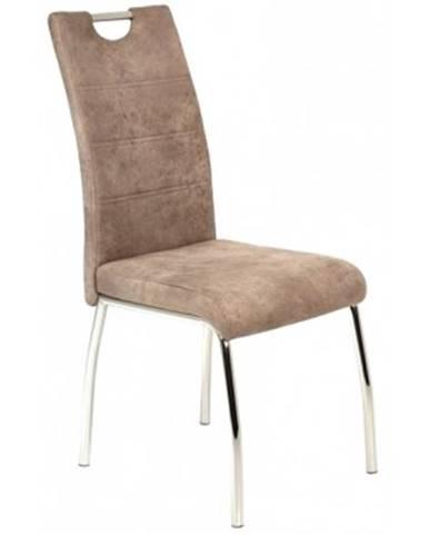 Jedálenská stolička Susi, béžová vintage látka%