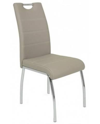 Jedálenská stolička Susi, cappuccino ekokoža%