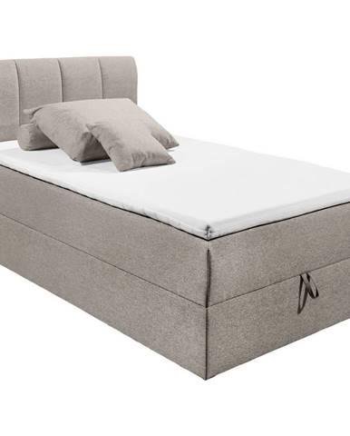 MID.YOU POSTEĽ BOXSPRING, 120/200 cm, textil, kompozitné drevo, bahenná hnedá - bahenná hnedá