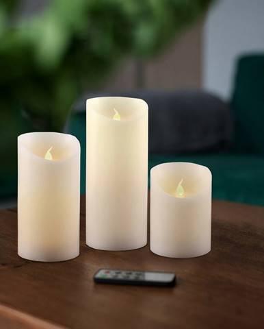 Sada Voskových LED sviečok s diaľkovým ovládačom, 7,5 x 15 cm, 3 ks