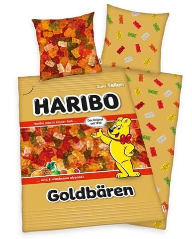 Herding Bavlnené obliečky Haribo Goldbären, 140 x 200 cm, 70 x 90 cm