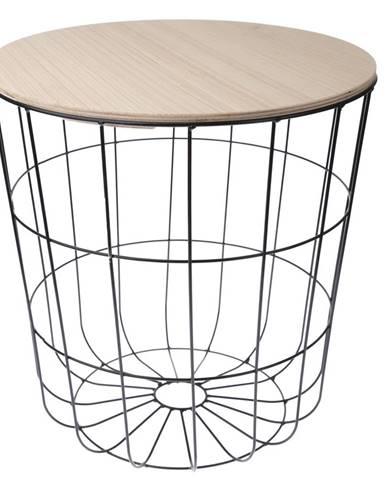 Odkladací stolík Kilenny čierna, 42 cm