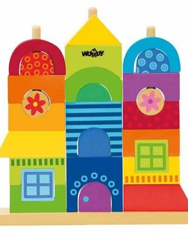 Woody Drevená stavebnica Rainbow Môj dom