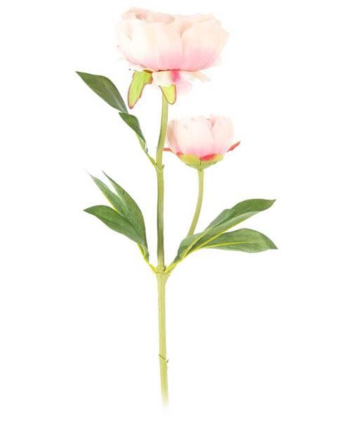 Banquet Umelá kvetina Pivonka svetloružová, 58 cm