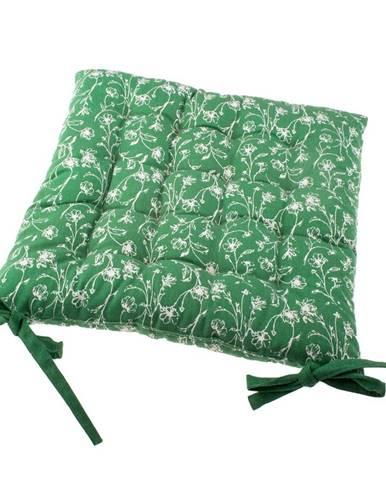 Sedák na stoličku Zora zelená, 40 x 40 cm