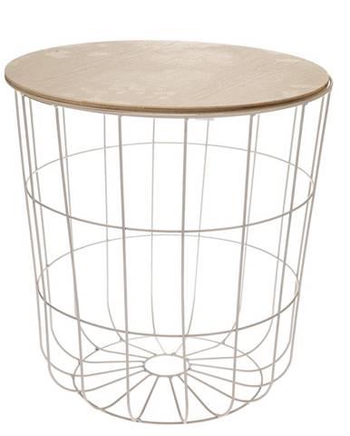 Odkladací stolík Kilenny biela, 42 cm
